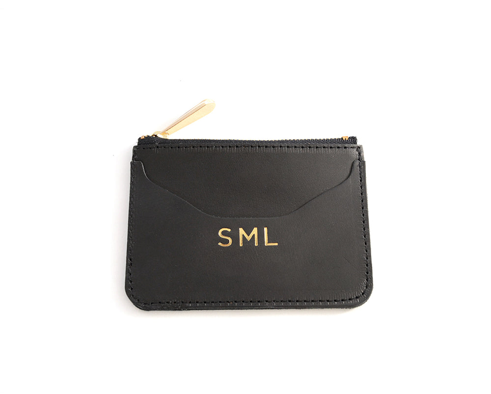 Load image into Gallery viewer, Top Zip Monogrammed Wallet by Shana Luther