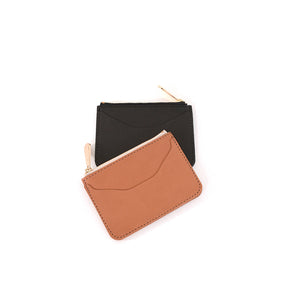 Load image into Gallery viewer, Veg Tan Top Zip Wallet by Shana Luther