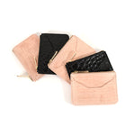 Croc Embossed top zip wallets by Shana Luther, made in Brooklyn, leather wallets