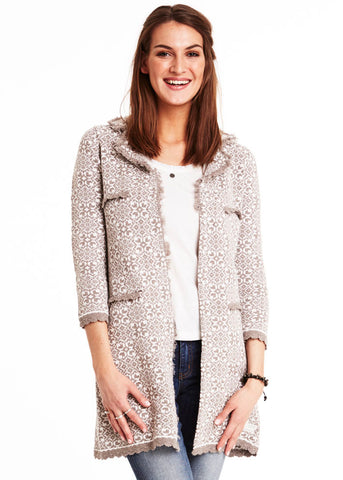 Odd Molly Empire Long Cardigan 116M-124 walnut