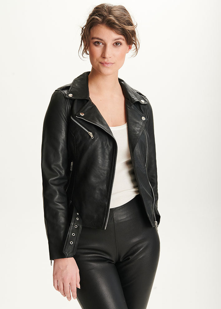 Butterfly CPH Biker Jacket 10575 Skindjakke - black with silver