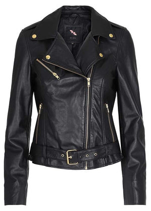 Butterfly CPH Biker Jacket 10575 Skindjakke - black with gold