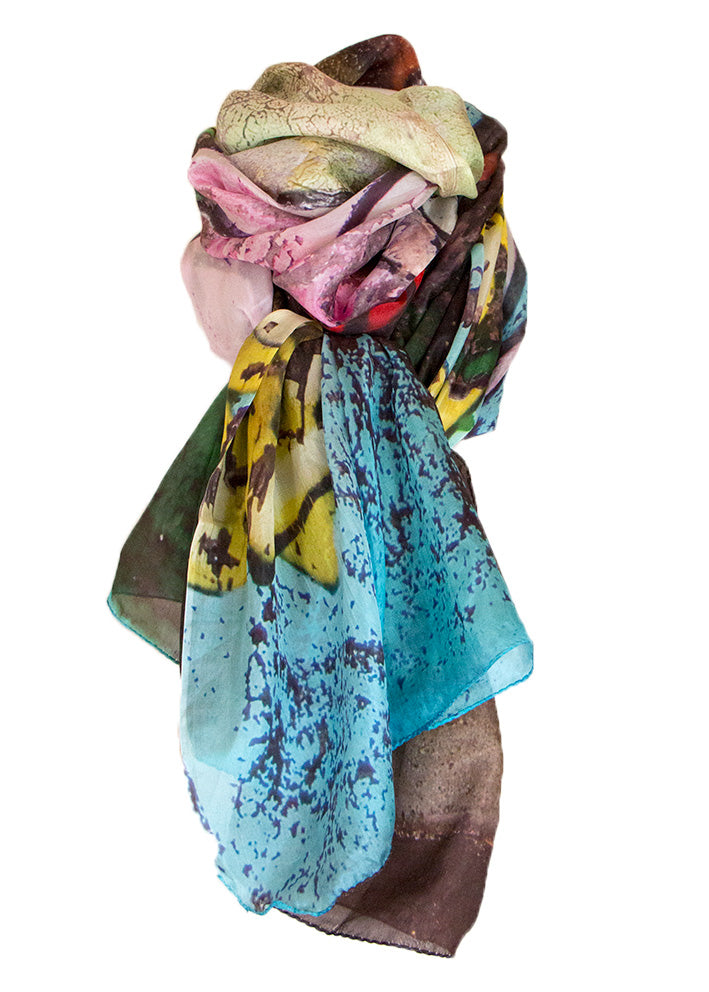 By Birdie Silketørklæde - Silk Art Scarf - Urban Flowers