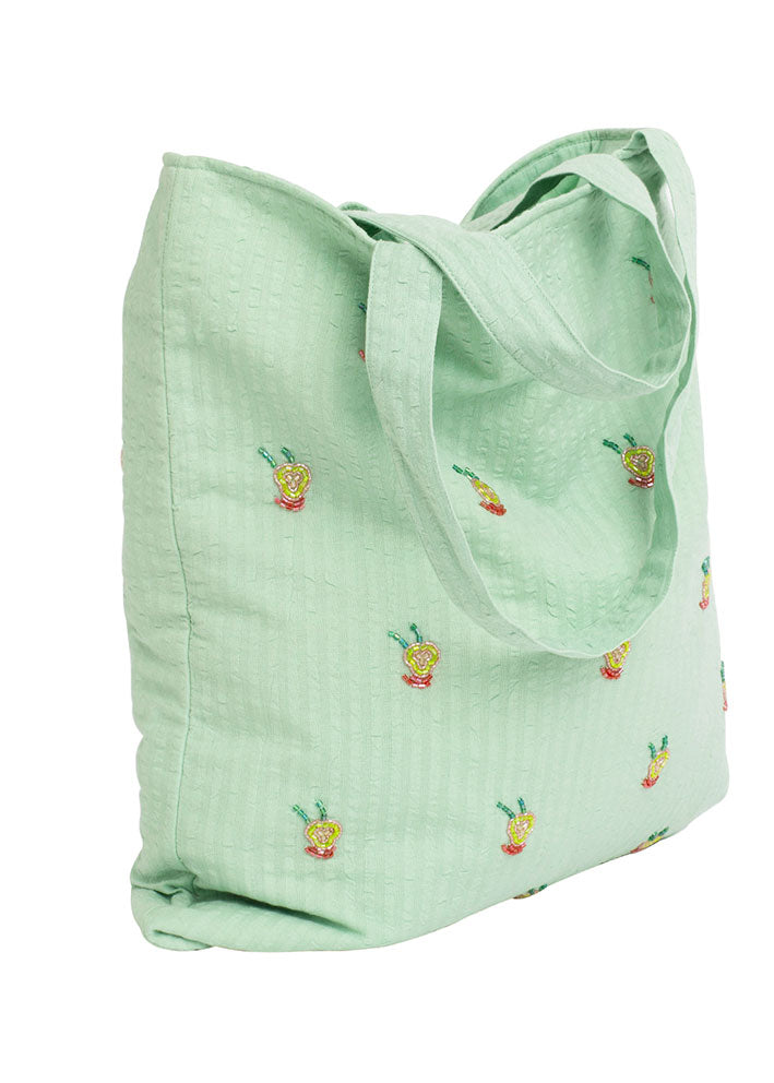 Hvisk Tote Dale - Shopper Net - Mint Green
