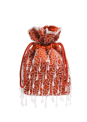 Hvisk Pouch Romance Beaded - Perletaske - Posh Red
