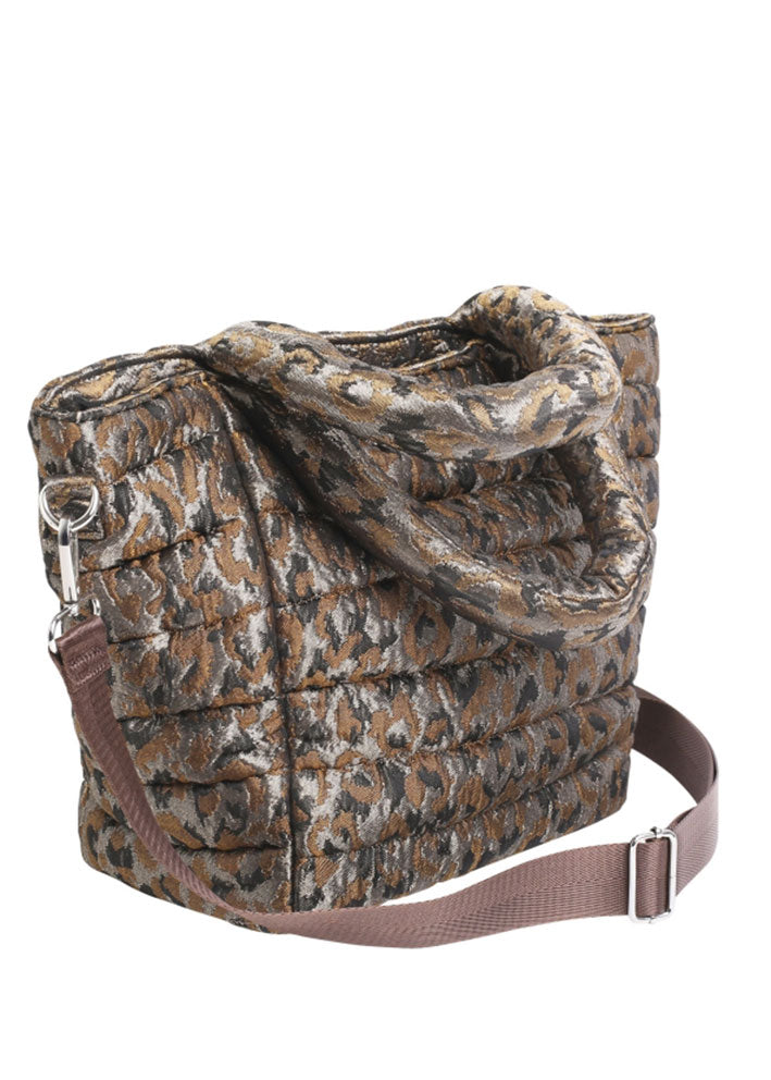 HVISK Valley Medium Leopard Taske - silver brown multi