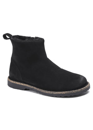 Birkenstock Melrose Shearling Støvle - black suede leather