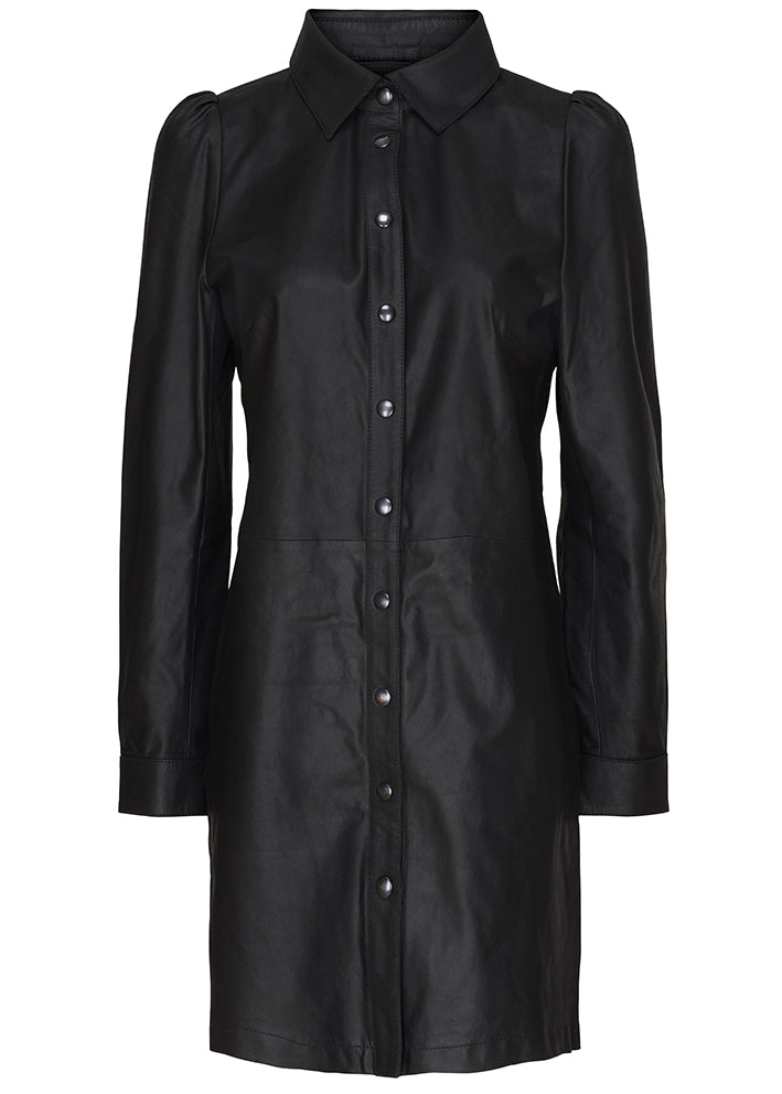 Butterfly CPH Long Shirt Dress - Skindkjole - black