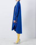 Piping Asymmetry Shirt Dress