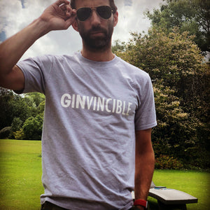 Ginvincible Unisex Relaxed fit Light Grey Tee