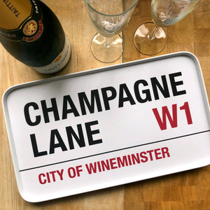 Champagne Lane Tray