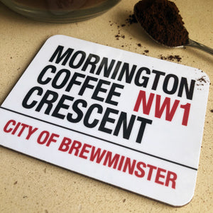 Mornington Coffee Crescent Brewminster Coaster