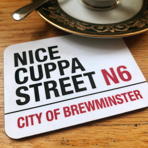 Nice Cuppa Street Brewminster Coaster