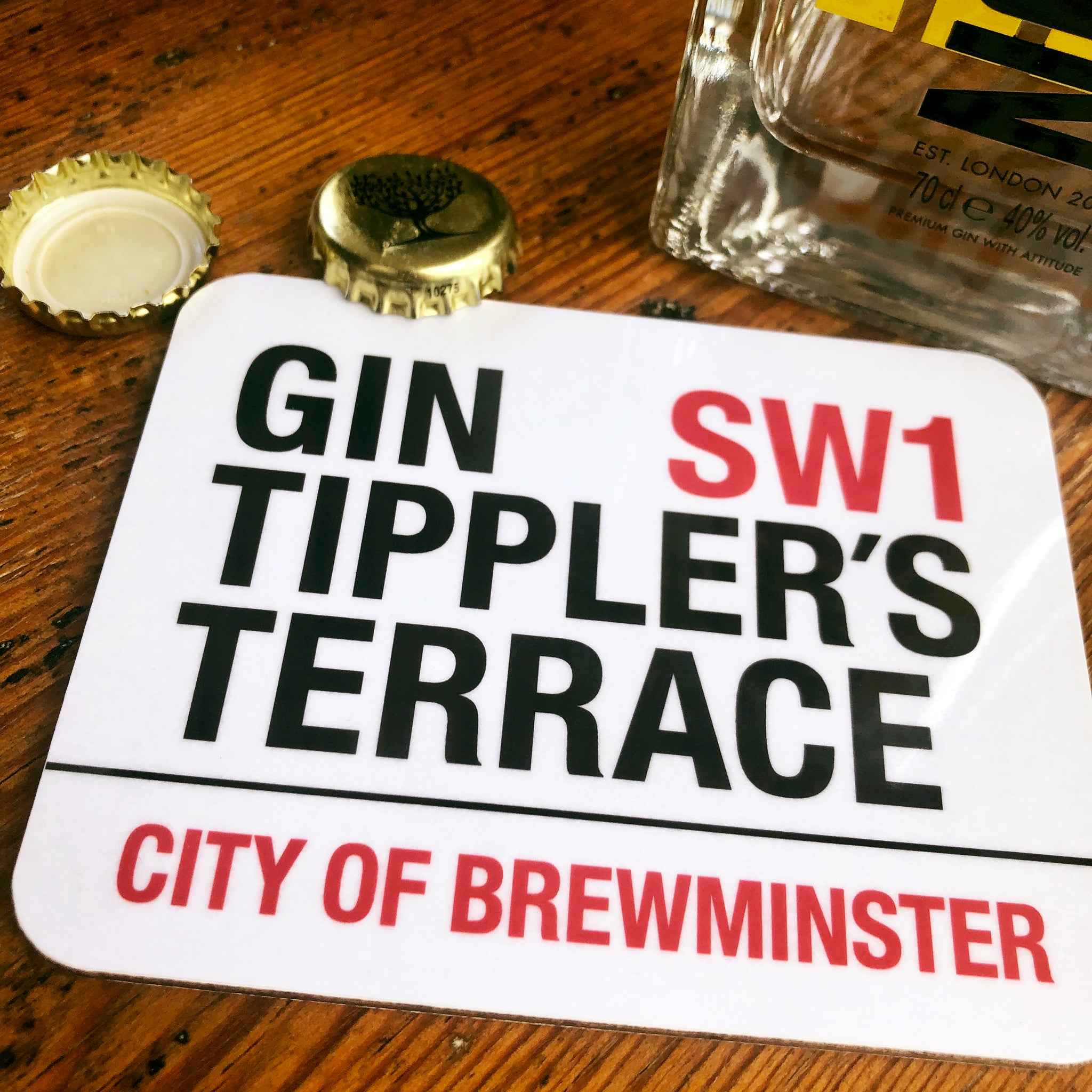 Gin Tippler's Terrace Brewminster Coaster
