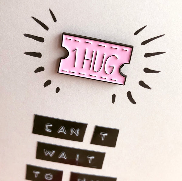 Hug You Again Enamel Pin Card