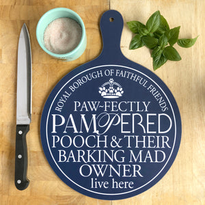 Barking Mad Owner Chopping Board