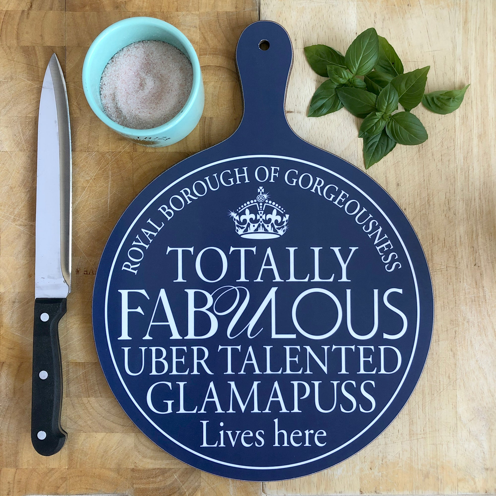 Fabulous Glamapuss Chopping Board
