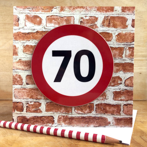Milestone Birthday Coaster Card 70