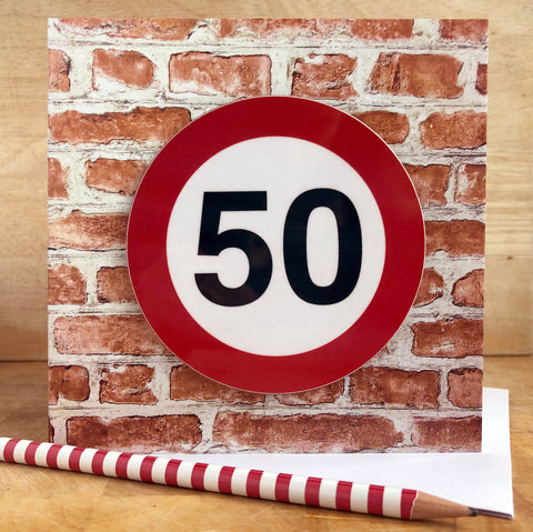 Milestone Birthday Coaster Card 50