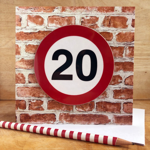 Milestone Birthday Coaster Card 20