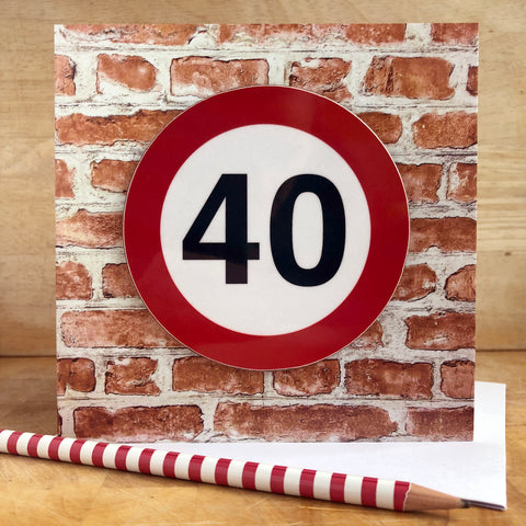 Milestone Birthday Coaster Card 40