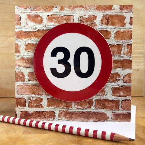 Milestone Birthday Coaster Card 30