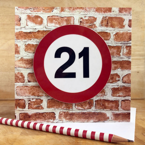 Milestone Birthday Coaster Card 21