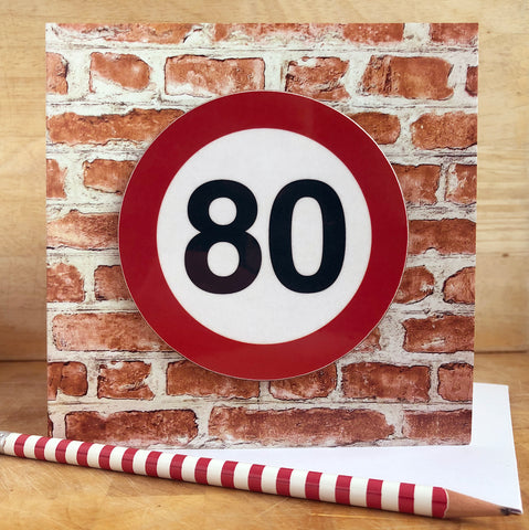Milestone Birthday Coaster Card 80