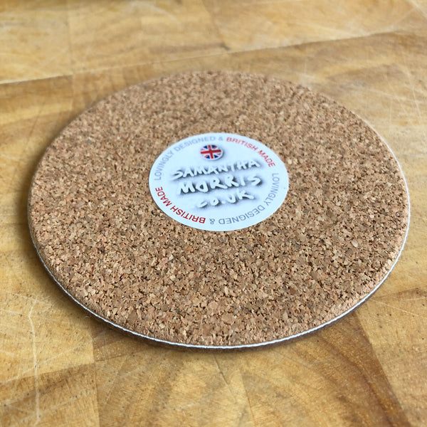 Woofs & Wine Labradoodle Coaster