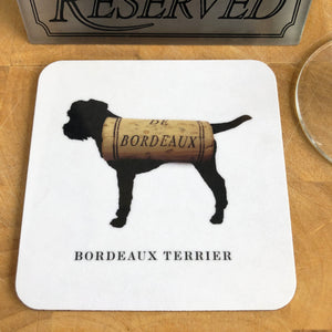 Woofs & Wine Border Terrier Coaster