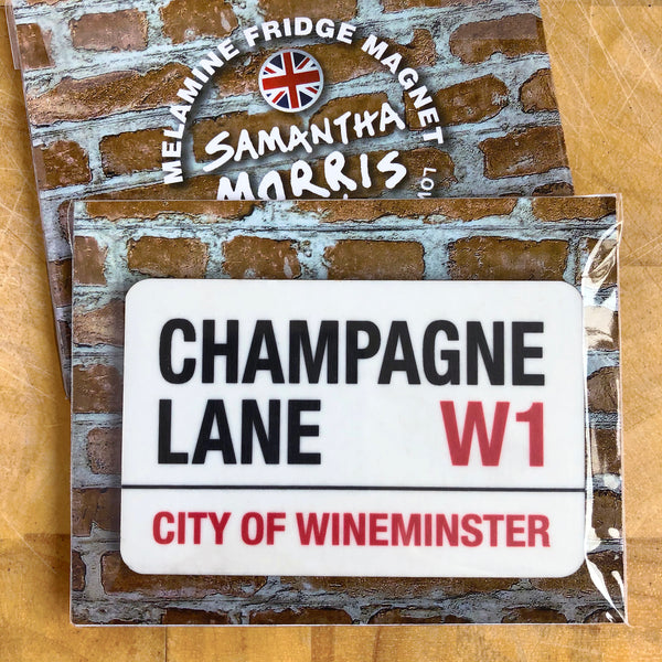 Champagne Lane Fridge Magnet