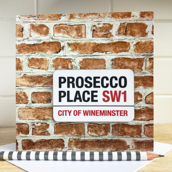 Prosecco Place Fridge Magnet Card