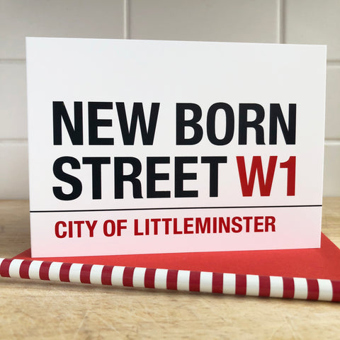 New Born Street Baby Card