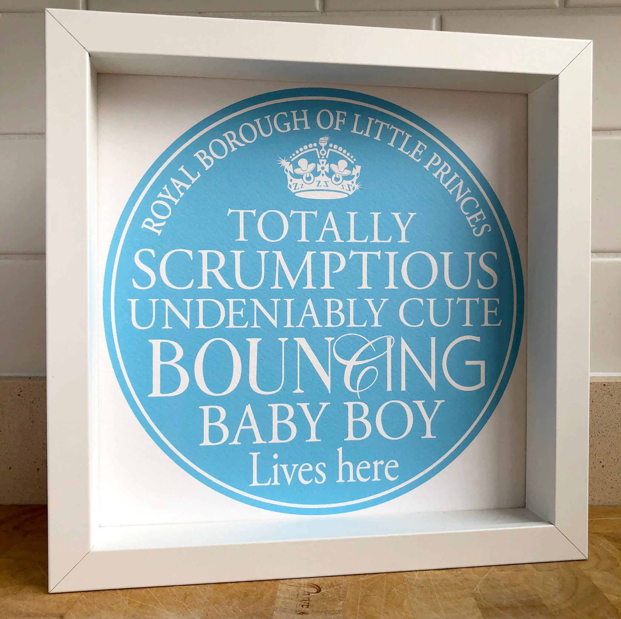 Baby Boy Blue Plaque Print