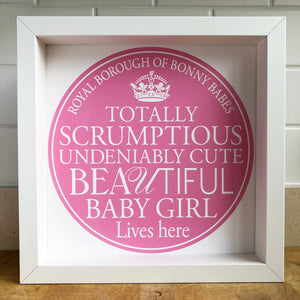 Baby Girl Blue Plaque Print