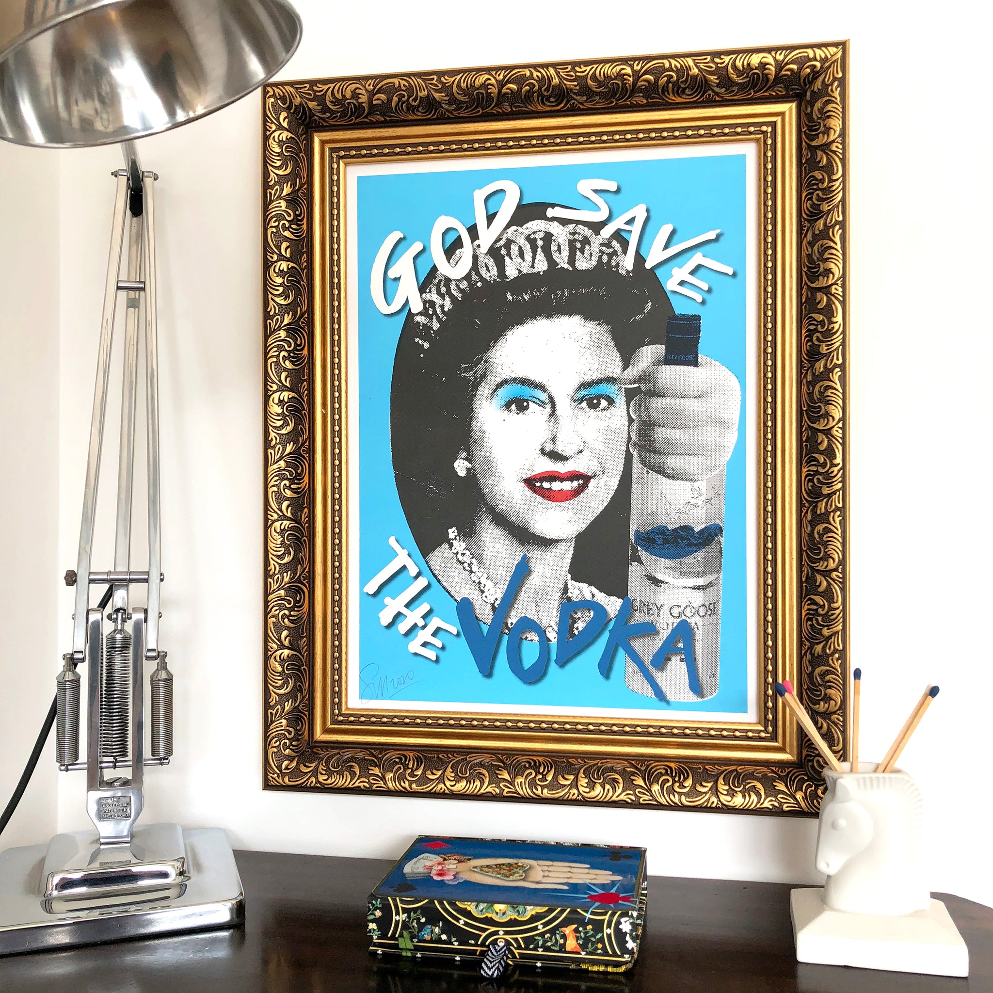 God Save the Vodka Signed Print