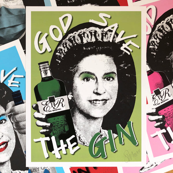 God Save the Gin Signed Print