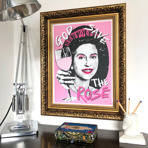 God Save the Rosé Signed Print