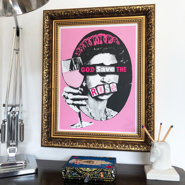 Punk God Save the Rosé Signed Print