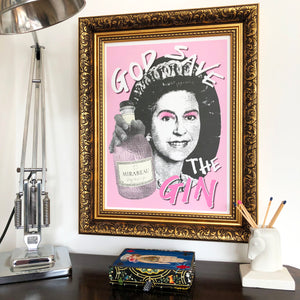 God Save the Gin Signed Print Mirabeau Special