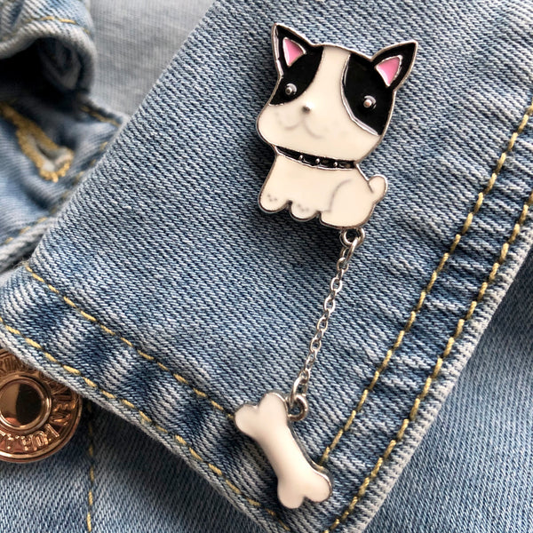 Dog with a Bone Enamel Pin