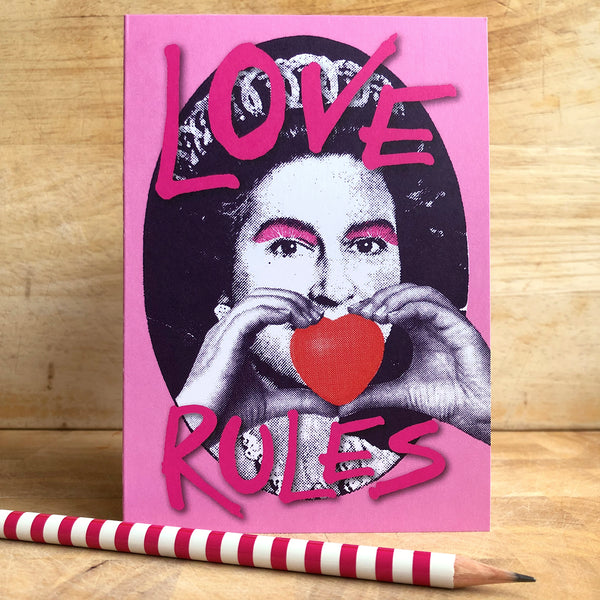 Love & Kisses Queenie Card