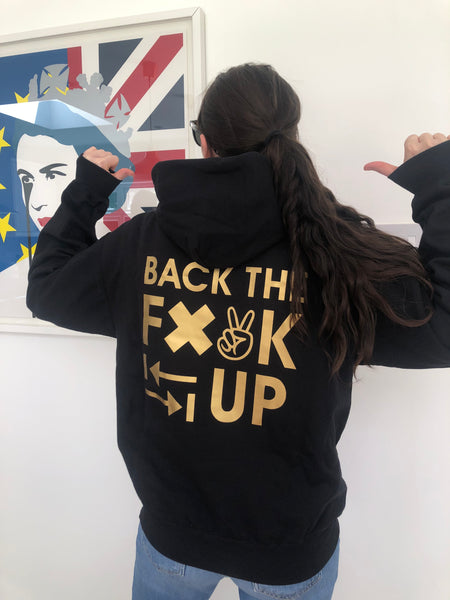 Back The F@*K Up Black Zip-Up Hoodie