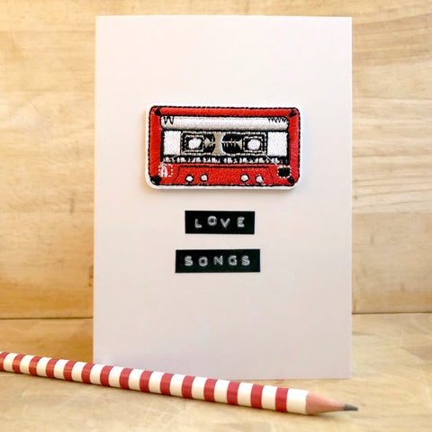 Love Songs Iron on Patch Card