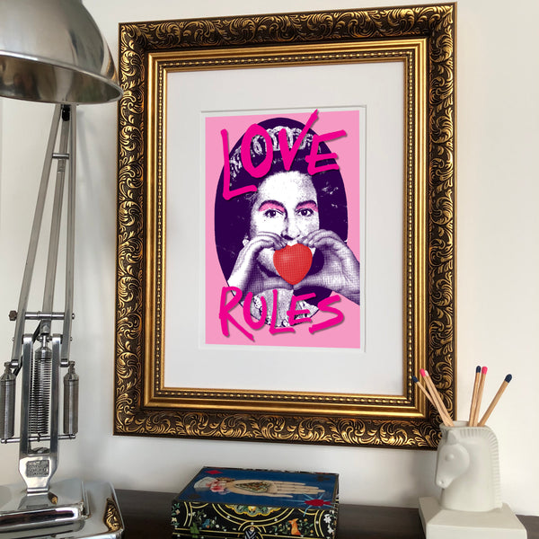 Love Rules Signed Print