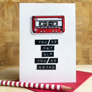 Retro/Mixtape Birthday Iron on Patch Card