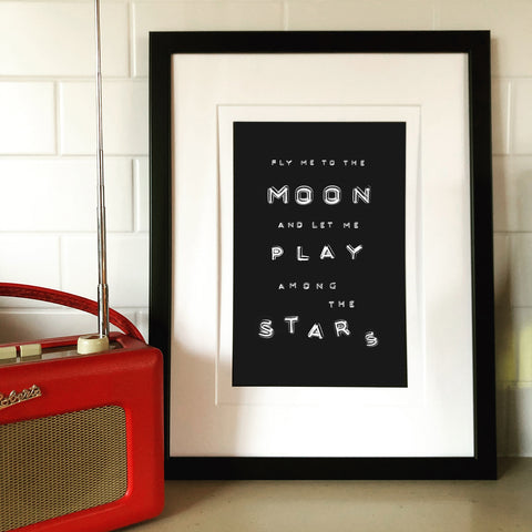 NEW Fly me to The Moon... Print