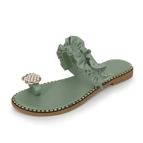 Pineapple With Pearl Designs Sandals