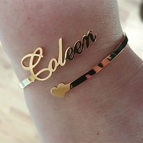 Our Personalized Bangle With A Heart is a great gift for any loved one. Whether you are looking for a gift idea for your mom or daughter, sister or girlfriend for her birthday, wedding day or any other special occasion, this personalized bracelet is sure to please. It's also perfect as a friendship bracelet!
