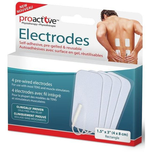 Proactive Self Adhesive Pre-Gelled Rectangle Electrodes - Home Health Store Inc